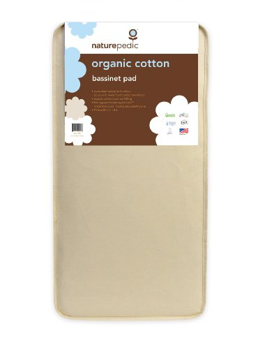 Naturepedic No Compromise Organic Cotton Bassinet Pad