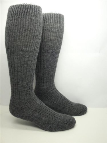 Military Heavy Wool Thermal Boot / Work Socks (2 Pairs)