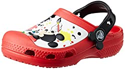 Crocs Kids Unisex CC Mickey Paint Splatter Clog Red Rubber Clogs and Mules - C12C13