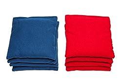 Weather Resistant Cornhole Bags (Set of 8) by SC Cornhole (Red/Royal Blue)