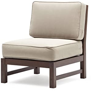 strathwood anderson hardwood sectional armless chair patio