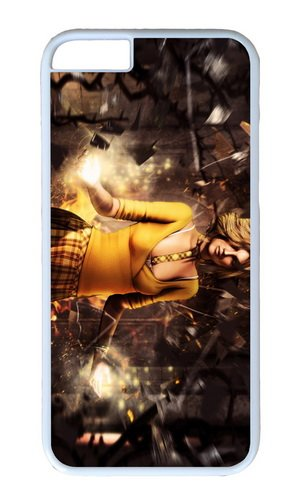 Fantasy Yellow Clothes Girl Magic Pc White Hard Case For Apple Iphone 6(4.7 Inch) front-919042