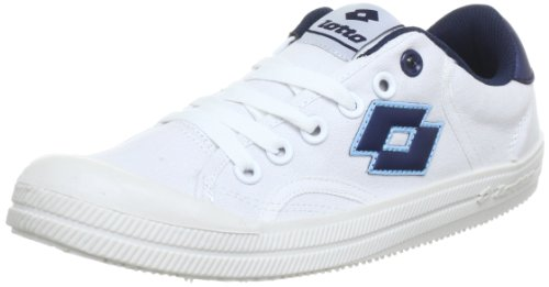 Lotto Sport DIXIE Q5103, Sneaker unisex adulto, Bianco (Weiß (WHT/INDIAN BLUE)), 43