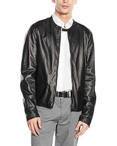 Dolce & Gabbana Lederjacke schwarz