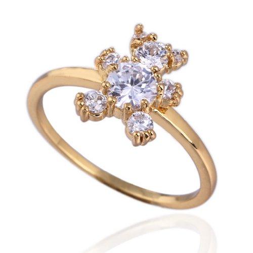 C-Princessリング 指輪 ring 18Kゴールドメッキ コーティン ラインストーン レディース 女性 アクセサリー ジュエリー ウェディング エンゲージリング くまちゃんモチーフ (18)