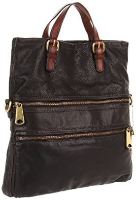 Fossil Explorer ZB5258 Tote,Black,One Size