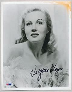 VIRGINIA MAYO SIGNED AUTO 8x10 PHOTO M89034 - PSA DNA Certified - Autographed College... by Sports+Memorabilia