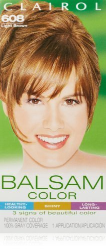 clairol-balsam-hair-color-608-light-brown-1-kit-pack-of-3-by-clairol-english-manual