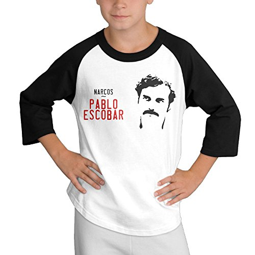 MULTY9 Narcos Child Youth 3/4 Sleeve T Shirts Small