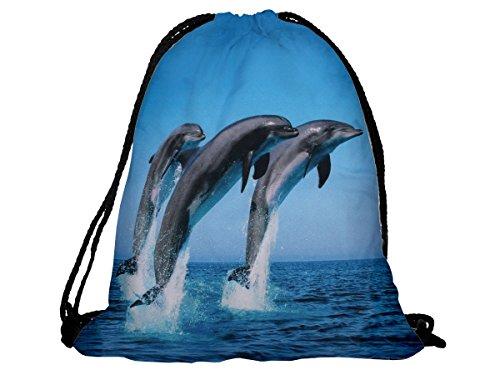 Sacca sportiva a tracolla per l'allenamento, ma non solo. Ultra leggero lifestyle viaggio borsa borsetta palestra zaino a spalla trend sport per uomini donne ragazzi ragazze bambini, RU-85 Delfine