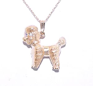14k yellow gold poodle charm jewelry