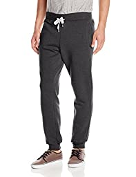 Southpole Men\'s Active Basic Jogger Fleece Pants,Heather Charcoal,2X-Large