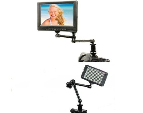 Ghope Magic Articulated Arm + Clamp Clamp Mounting Kit For Full Mounting Bracket Lcd Screen Led Flash Camera Hdmi Led Monitor And Camera Dslr (11 Inch)