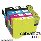 Epson Stylus Office BX320FW Compatible Printer Ink Cartridge Multipack - x1 T1295 Multipack (T1291 Black, T1292 Cyan, T1293 Magenta, T1294 Yellow) High Capacity Inksby Cobra Inks