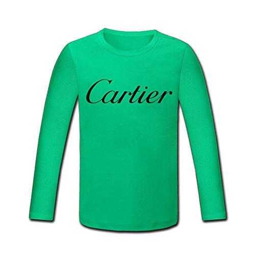 cartier-logo-for-boys-girls-printed-long-sleeve-cotton-t-shirt