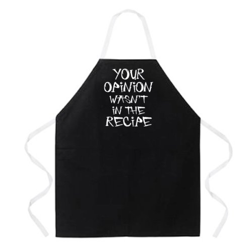 Buy Attitude Apron Your Opinion Apron Black One Size Fits MostB001D1Z6TK Filter