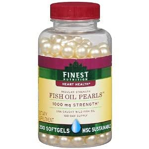 Finest nutrition fish oil pearls 1000mg for Fish oil nutrition