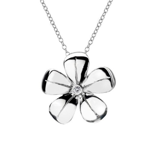 Hot Diamonds Plumbago Silver and Diamond Pendant 41 cm + 5.5 cm extender