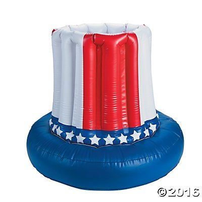 American Flag Cooler Inflatable- Patriotic Party Decoration - 4th of July Party Cooler