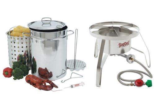 Stainless Steel Turkey Fryer Kit 32 Quart Turkey Fryer