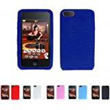 MiniSuit DEEP BLUE TEXTURE Silicone Case Skin Protector Cover for Apple iPod Touch 2 2G 2nd Generation 8GB 16GB 32GB and LCD Screen Protector-Many Colors Available