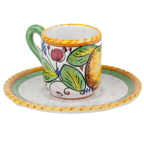 Hand Painted Frutta Mista Espresso Cup From Italy (Espresso From Italy compare prices)
