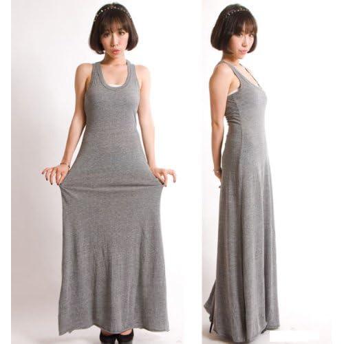 【オルタナティブ アパレル】マキシ ワンピース Alternative Apparel Eco Jersey Maxi Dress レディース Sサイズ ECO GREY