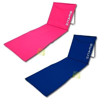 Zwei faltbare Strandmatten Strandliegen Sonnenliegen Farbe blau + pink von Team101 auf Gartenmöbel von Du und Dein Garten