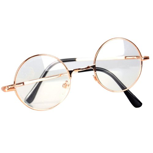 Big Circle Frame Glasses : Galleon - Hotportgift 60s Vintage Retro Round Frame ...