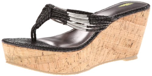 Volatile Women'S Hilo Wedge Sandal,Black,7 B Us front-545124