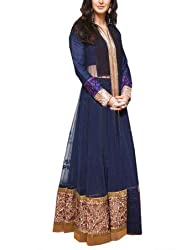 Ashvah Katrina Kaif Blue Net Gown