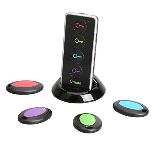 Omala ワイヤレス電子キーファインダー 忘れ物防止 発見器 Key Finder 探し物探知機「ご心配なく、これがあった、鍵/リモコン/携帯/財布等簡単に探せー」 LEDライト付き