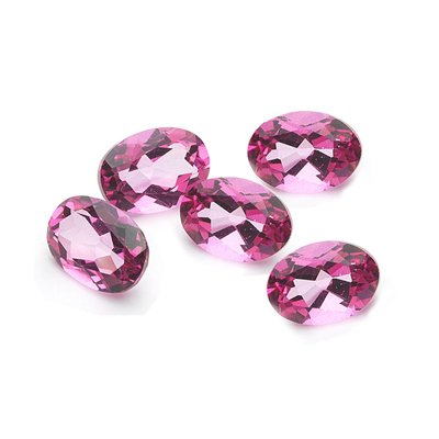 1.25 Cts of 5x3 mm AA Oval Matching Loose Mystic Pink Topaz ( 5 pcs set ) Gemstones