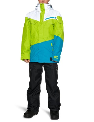 Original dare2b Clean Sweep Jacket Freeride Ski Jacke Herren white/key lime, Größe:S