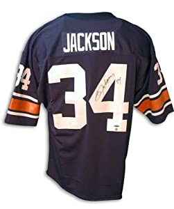 Autographed Bo Jackson Blue Auburn Jersey by Athletic+Promotional+Events+Inc.