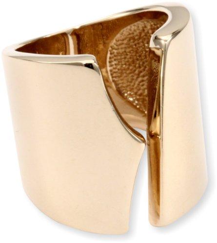Giuseppe Zanotti Gold Finish Open Sided Ring, Size 8