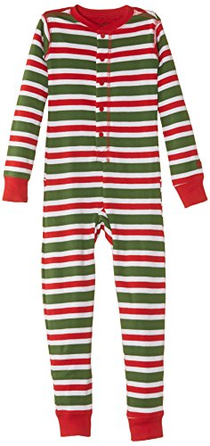 Hatley Little Boys' Children'S Union Suit Christmas Stripes, Multi Color, 7 front-553302