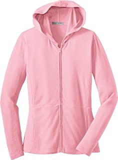 Port Authority Ladies Modern Stretch Cotton Full-Zip Jacket, petal pink, X-Large
