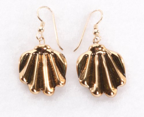 Earrings: Golden Shell