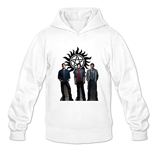 Crystal Men's Supernatural Dean Sam Winchester Long Sleeve Jacket White US Size L (Sam And Dean Winchester Jacket compare prices)