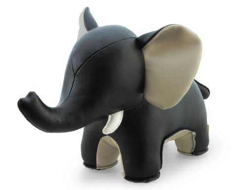 Elephant Black Animal Bookend