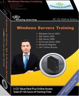 Microsoft Windows Server, SQL Server and Exchange Server Training Courses (5-CD Value Pack)