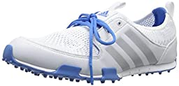 adidas Golf Women\'s Climacool Ballerina II Running White/Silver Metallic/Chambray Sneaker 5 B (M)