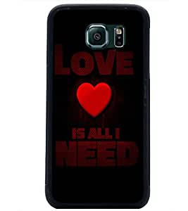 PrintDhaba Quote D-4412 Back Case Cover for SAMSUNG GALAXY S6 (Multi-Coloured)