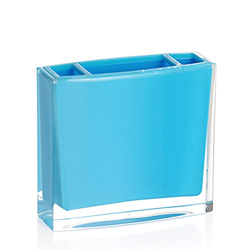 Pure Color Toothbrush Holder Exquisite Bathroom Accessories Made Of Acrylic (Blue)