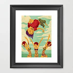 Amazon.com: Society6 - Tapete Voador Framed Art Print by Victor Beuren