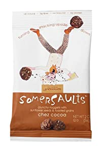 Somersaults Dutch Cocoa Crunchy Nuggets, 2-Ounce Pouches (Pack of 32)