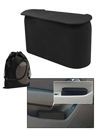 JAVOedge Black Small Car Trash Can With Lid, Flexible Material, Fits in Most Side Doors (Car In A Can compare prices)