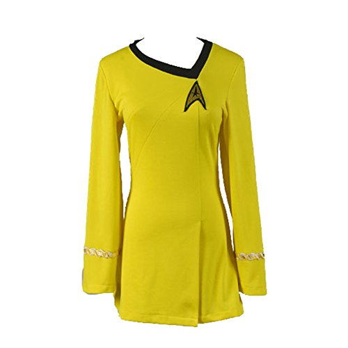 CosplaySky Star Trek The Female Duty Uniform Yellow Dress Costume XX-Large