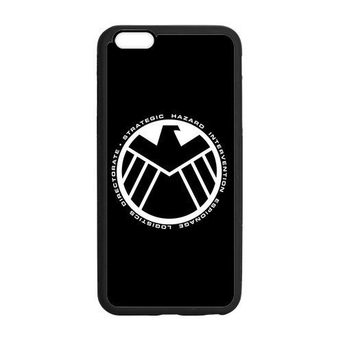 MAS CASE- Personalized Protective Black TPU Rubber Cell Phone Case Cover for iPhone 6 & iPhone 6S -Marvel's Agents of S.H.I.E.L.D. SHIELD